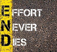 Business Acronym END as EFFORT NEVER DIES by Stanciuc