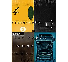 typography and the poet's muse Photographic Print