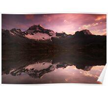 Sunset Cordillera Blanca Peru Poster