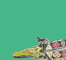 crocodile green by Sharon Turner