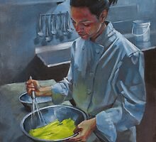 Vianca Whisking Eggs by Andy Beck