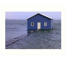 Storm Surge At Crawley Edge Boatshed  Art Print