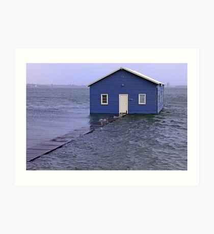 Storm Surge At Crawley Edge Boatshed  Art Print