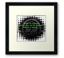 Hacker 1.0 - Geek Philosophy style skull - Software, coding and hacking designs  Framed Print