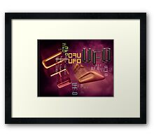 unidentified flying type Framed Print