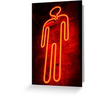 neon glow Greeting Card