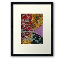 Corner Splatter # 9 Framed Print