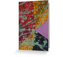 Corner Splatter # 9 Greeting Card