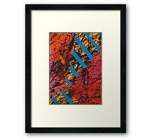 Corner Splatter # 8 Framed Print