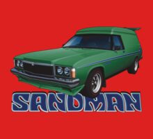 HZ Holden Sandman Panel Van - Super Mint Green Kids Tee