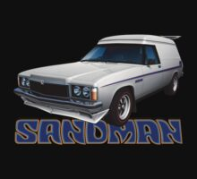 HZ Holden Sandman Panel Van - White by tshirtgarage