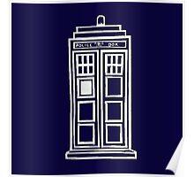 Classy white TARDIS Poster