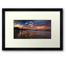 Circles in the sand Framed Print