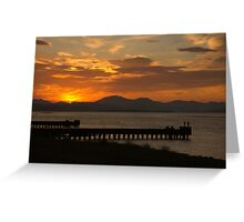 Clyde Sunset Greeting Card