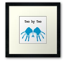 Hands of Blue Framed Print