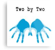 Hands of Blue Metal Print