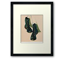 Black Boots Framed Print