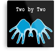 Hands of Blue (in Black) Metal Print