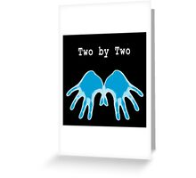 Hands of Blue (in Black) Greeting Card
