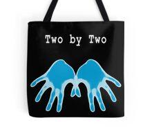 Hands of Blue (in Black) Tote Bag