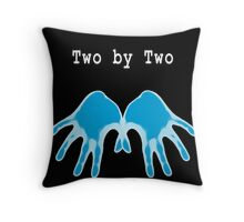 Hands of Blue (in Black) Throw Pillow