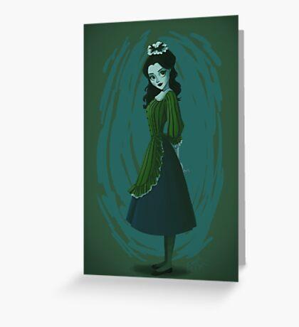 Morbid Maid Greeting Card