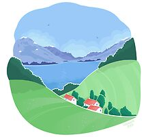 Mountain village landscape by oksancia