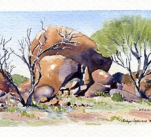 Hanging Rock, Kookynie.West Australia by robynart