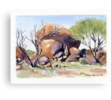 Hanging Rock, Kookynie.West Australia Canvas Print