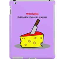 Cutting the cheese iPad Case/Skin