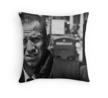 pulling the late shift Throw Pillow