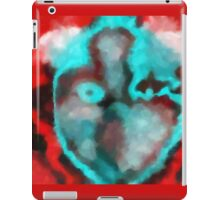 Mask in Crimson and Cyan iPad Case/Skin