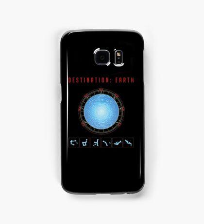 Destination Earth gate black background Samsung Galaxy Case/Skin