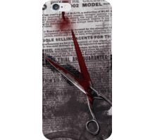 Crime Evidence - Blood and Scissors - Art Prints iPhone Case/Skin