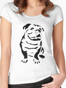 cute puppy on lite Women's Fitted Scoop T-Shirt
