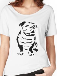 cute puppy on lite Women's Relaxed Fit T-Shirt