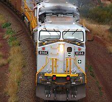 Iron Ore Train - Tom Price by Caroline Scott