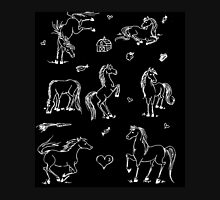 Whimsical Horse Negative T-Shirt
