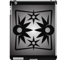 Abstract Black Star Reflections iPad Case/Skin