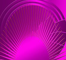 Art Deco Sun in Purple by CulturalView