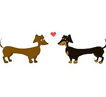 Dachshund Love by LaurasLovelies