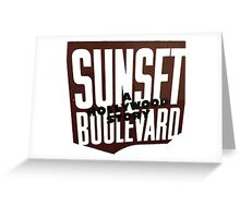 Sunset Blvd 2 Greeting Card