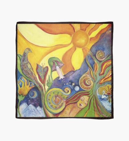 The Dream Colorful Psychedelic Folk Art Scarf