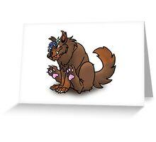 Cute Werewolf Greeting Card