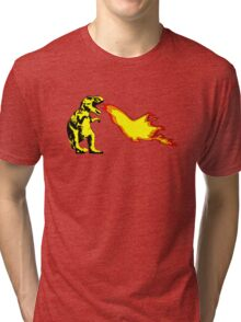 Dinosaur - Yellow Tri-blend T-Shirt