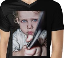 #Hold On Kiddo Mens V-Neck T-Shirt