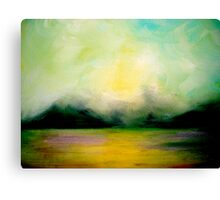 Landscape..Softly as in a Morning Sunrise Canvas Print