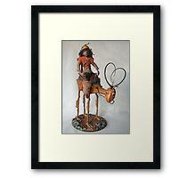 Nightrider - art doll sculpture Framed Print
