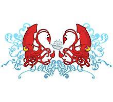Squids Photographic Print