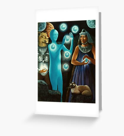 Initiation:11-11 -spiritual,fantasy oil painting Greeting Card